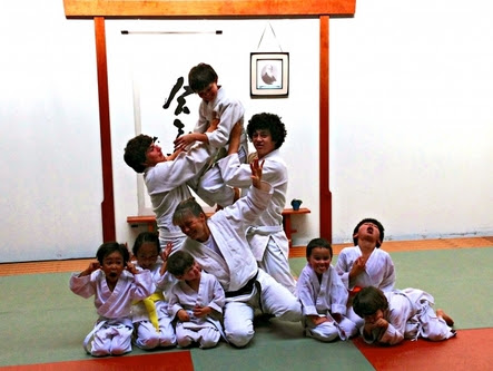 Kids aikido belt ceremony