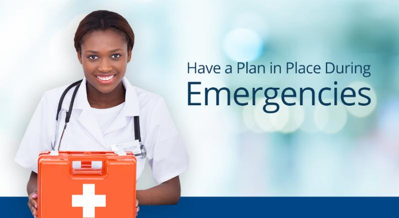 Have Plan In Place for Emergencies