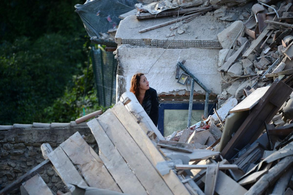 AFP FK6IH - A 6.2 earthquake rattles Italy