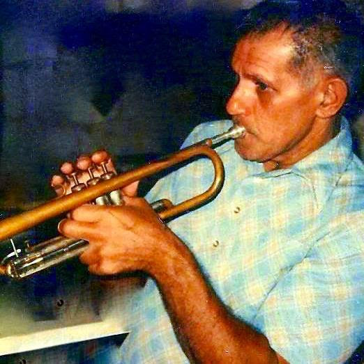 Fred with trumpet