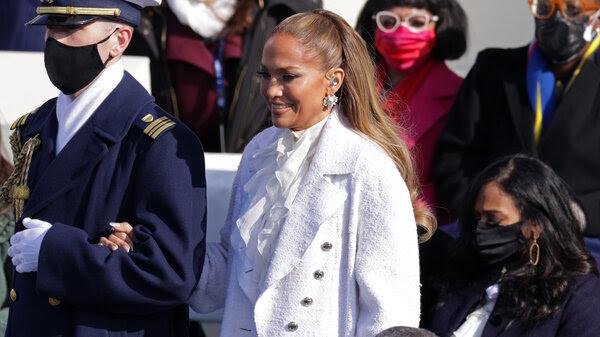 Jennifer Lopez at Joe Bide's inauguration.