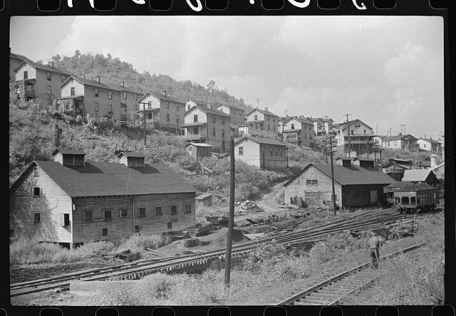 Company houses, coal mining section, Pursglove, Scotts Run, West Virginia