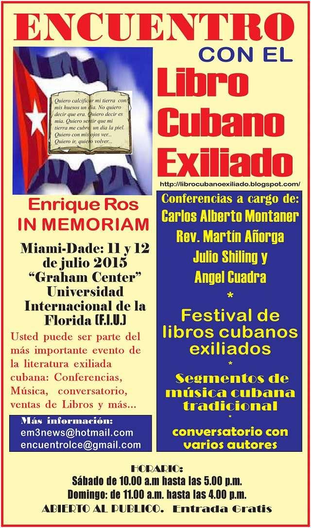 encuentro libro cubano exiliado afiche 640x1088