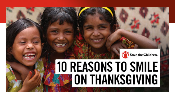 10 Reasons to Smile on Thanksgiving