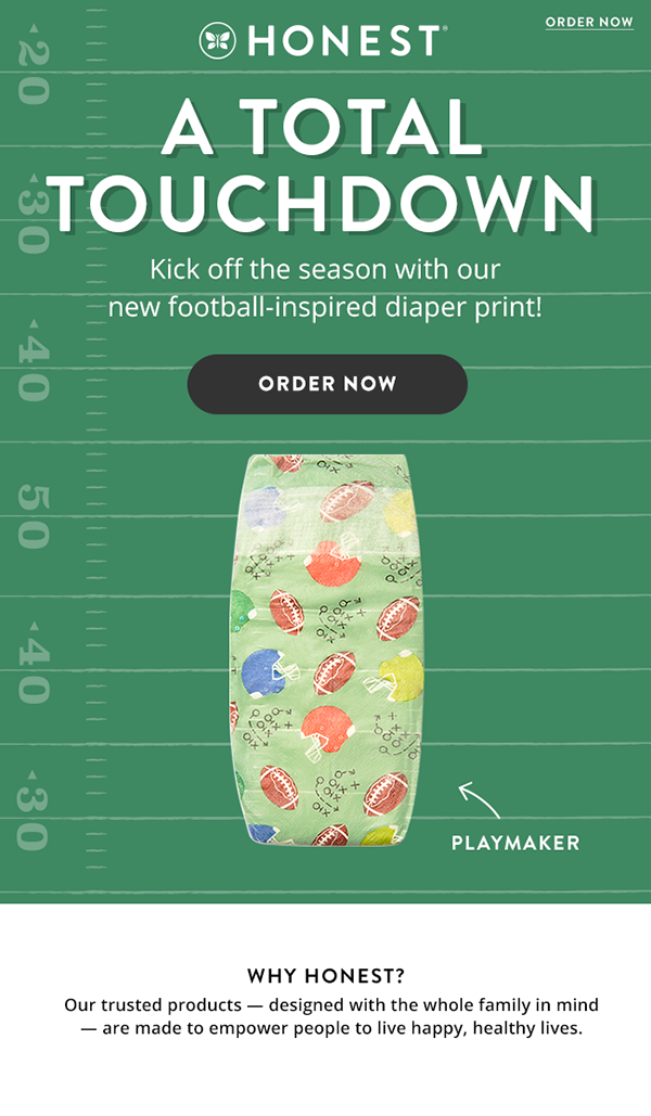 NEW Football Print Diapers fro...