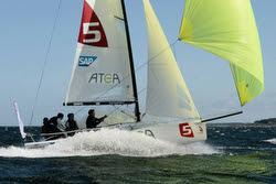 J/70s sailing Danish league off Skive