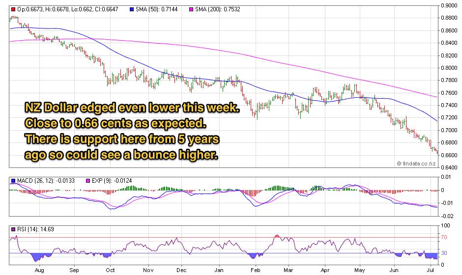 NZ Dollar 1 Year Chart