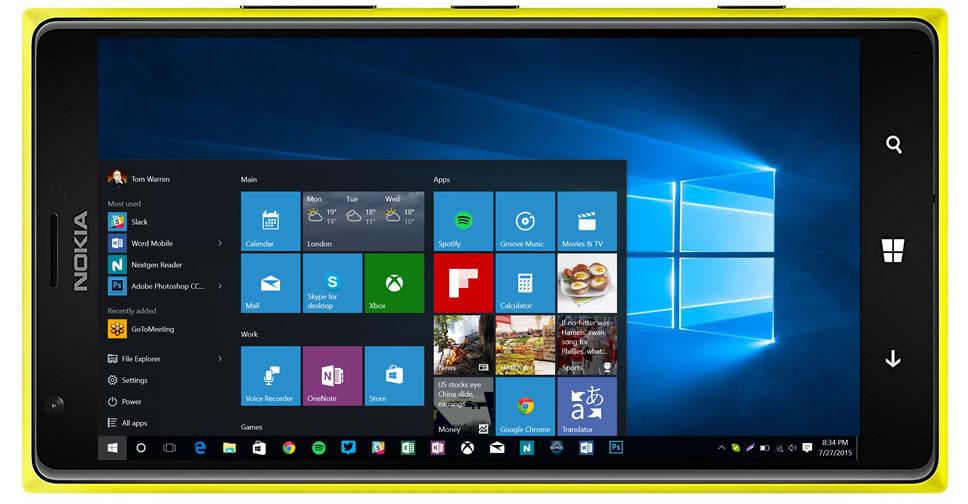 แฮกเกอร์ติดตั้ง Windows 10 สำหรับซีพียู ARM บนสมาร์ทโฟน Lumia 1520