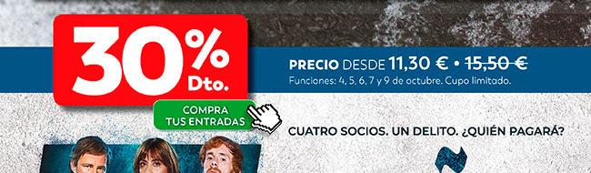 30% Dto. Precio desde 11;30€ . Compra tus entradas.