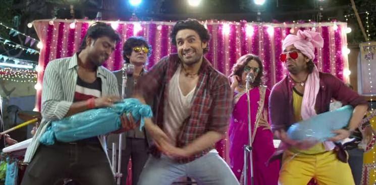 Band Bajega video song Guns Of Banaras Karann Nathh Nathalia Kaur Dhanush Vetri Maaran Polladhavan Hindi remake