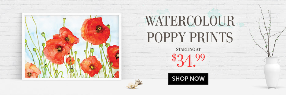 Poppy print items