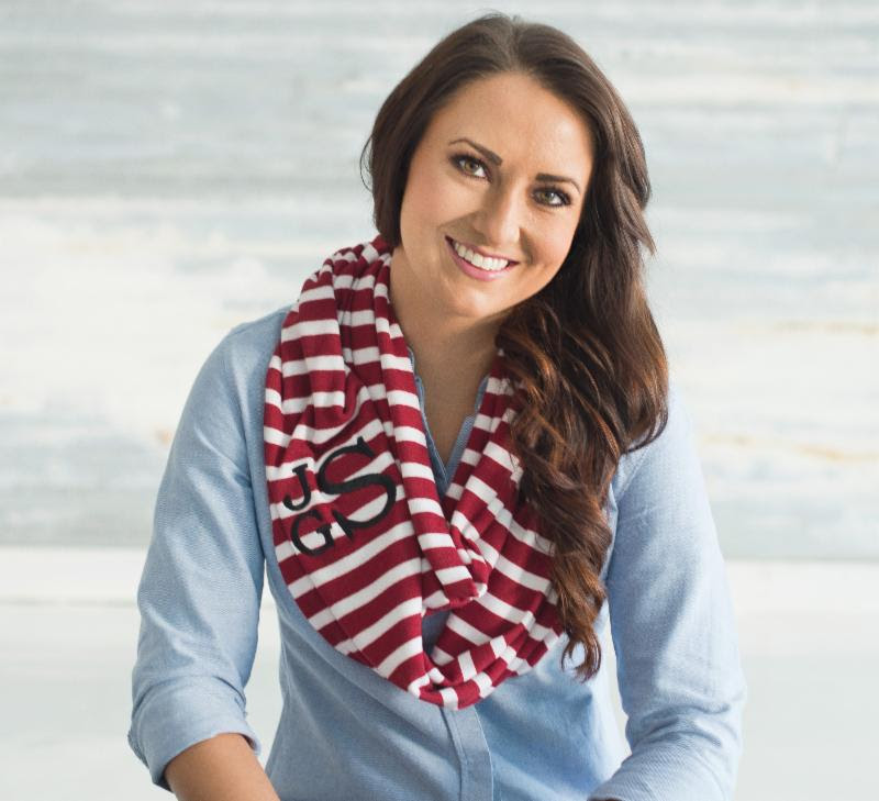 Monogrammed Scarves Infinity styl