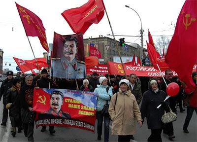 Patriotic parade with Stalin