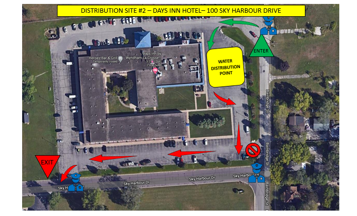 PFAS Water Pick-Up Map Holiday Inn on French Island