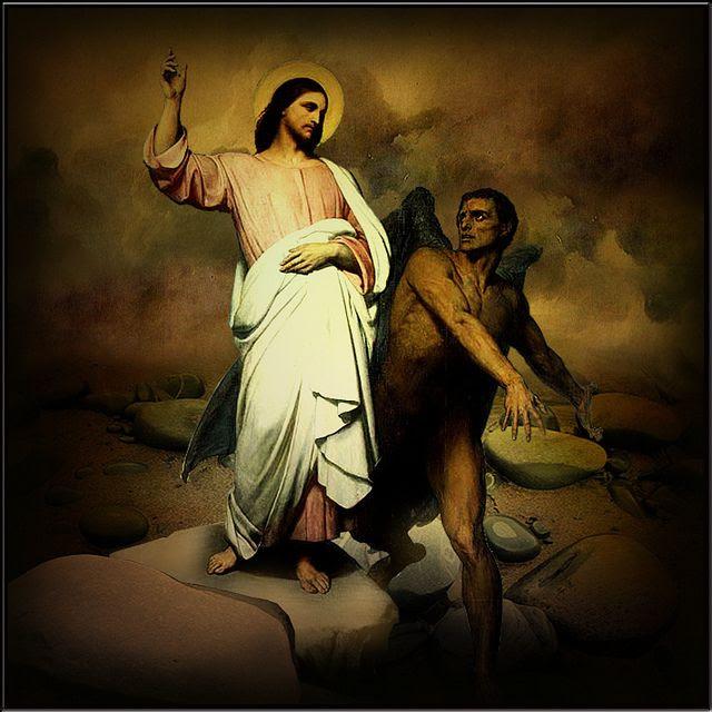Znalezione obrazy dla zapytania Duch wyprowadził Jezusa na pustynię. A przebywał na pustyni czterdzieści dni, kuszony przez Szatana, i był ze zwierzętami, aniołowie zaś Mu służyli.