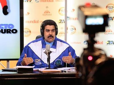 Nicolás Maduro en el programa de radio.