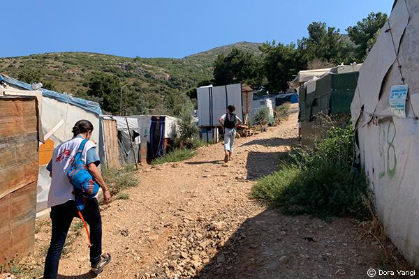 Antiguo campamento de refugiados en Vathy, Samos