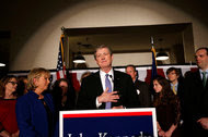 John Neely Kennedy spoke on Saturday at his election watch party in Baton Rouge, La., after defeating his challenger, Foster Campbell.