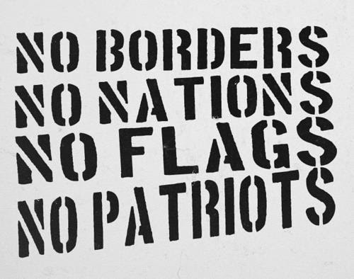No Nations stencil