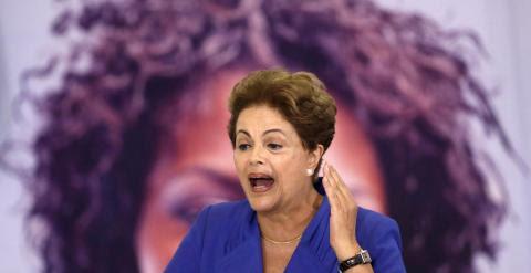 La presidenta de Brasil, Dilma Rousseff, durante su discurso. - REUTERS