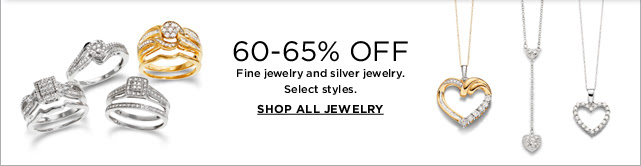 60-65% OFF All fine jewelry and silver jewelry. SHOP ALL JEWELRY
