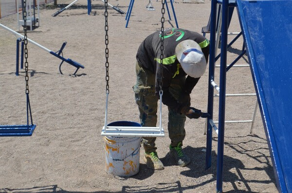 16233454404390484 Pausa MX Atendió Gobierno Municipal 78 parques con trabajos de pintura durante mayo