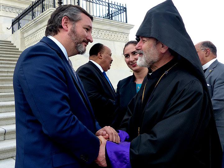 Cruz and Archbishop Tanielian