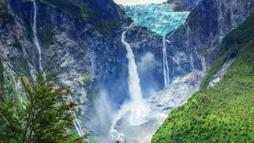 Hanging Glacier, Queulat National Park, Chilean Patagonia