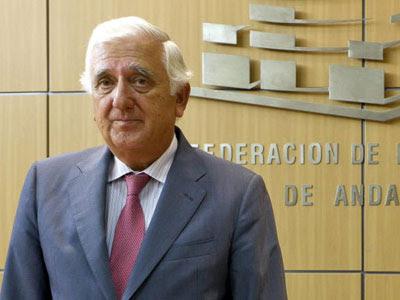 El presidente de la patronal andaluza, Santiago Herrero.