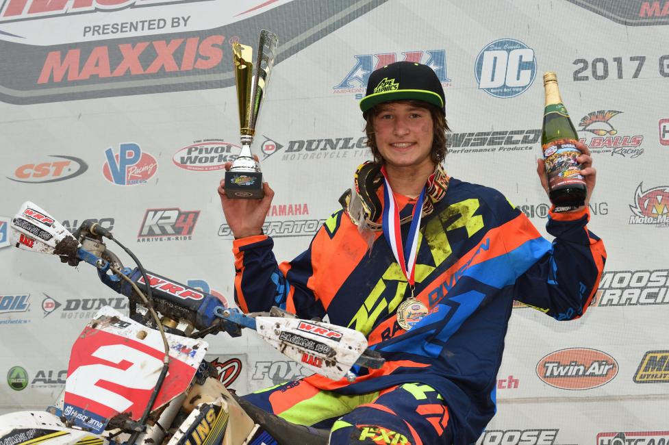 After battling majority of the race with Peyton Whipkey, Zack Davidson returned to the box with another first overall.