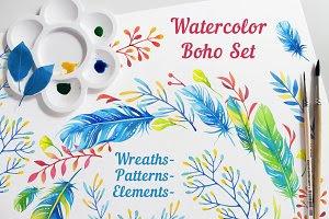 Watercolor Boho Set