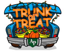 Austin Prep trunk or treat event logo