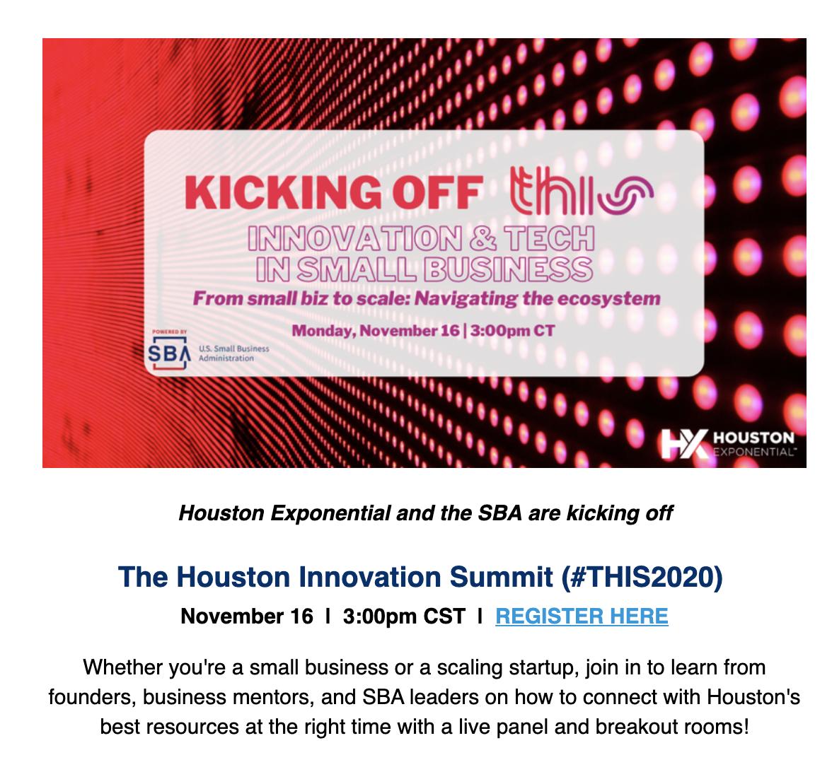 HCC - Office of Entrepreneurial Initiatives: November 2020 Newsletter 30