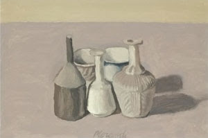 File:'Natura Morta', oil on canvas painting by Giorgio Morandi, 1956, private collection.jpg