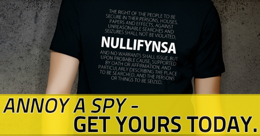 12132013 annoy a spy SHIRT 520 Breaking: Utah Bill to Cut Off Water Supply to NSA Data Center