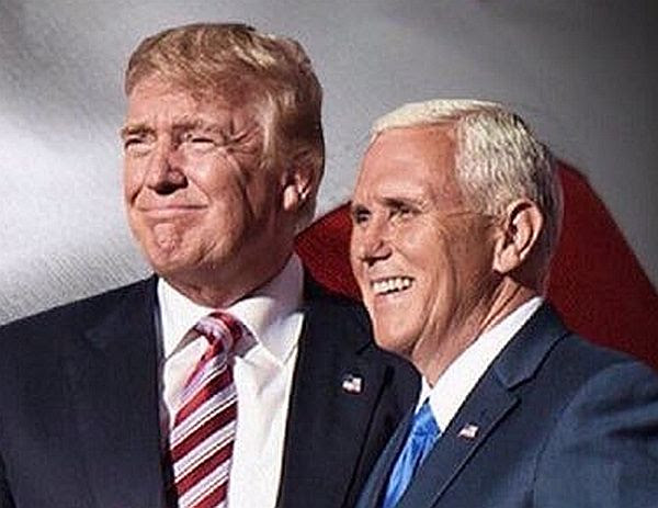 US President-elect Donald J. Trump and Vice President-elect Mike Pence on their