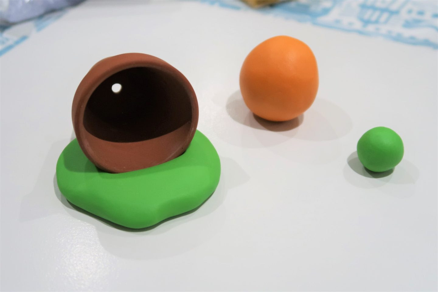 Fimo plant pot and carrot.