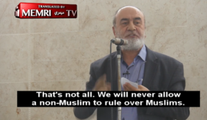 """Muslim cleric: If Muslims """"rise to power through democracy, they will not allow an infidel to rule over them"""""""