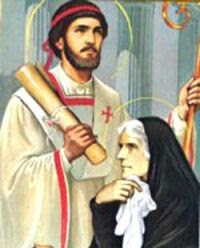 Święty Augustyn z matką, św. Moniką