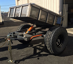 Photo of custom-fab rock dump trailer