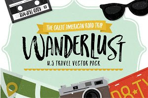 Wanderlust - U.S Travel Vectors