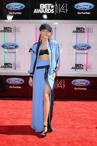Actress Zendaya attends the BET AWARDS '14 at Nokia Theatre L.A. LIVE on June 29, 2014 in Los Angeles, California.