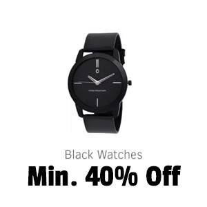 Black Watches at Min.40% Off