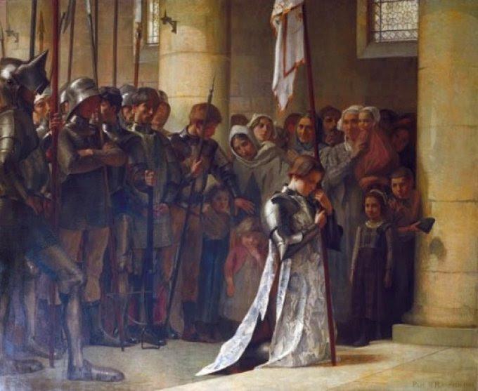 Du 22 au 30 Mai Neuvaine à Ste Jeanne d'Arc pour la France!!! Jeanne-darc-priant-dans-leglise-de-sevres-sevres