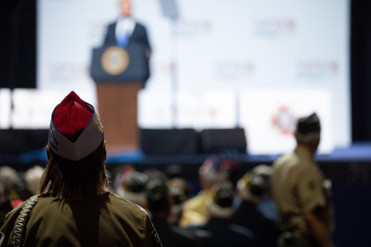 President Donald J. Trump delivers remarks