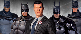 ARKHAM BATMAN FIGURE FIVE PACK
