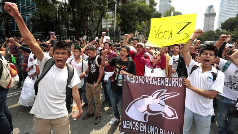 student protest in Mexico