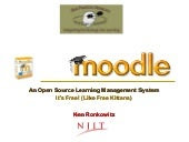 Moodle: a free learning management system