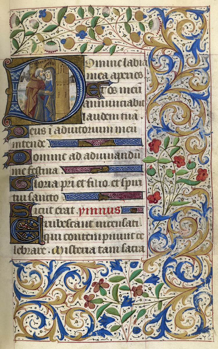 Page from a 15th century French Book of Hours