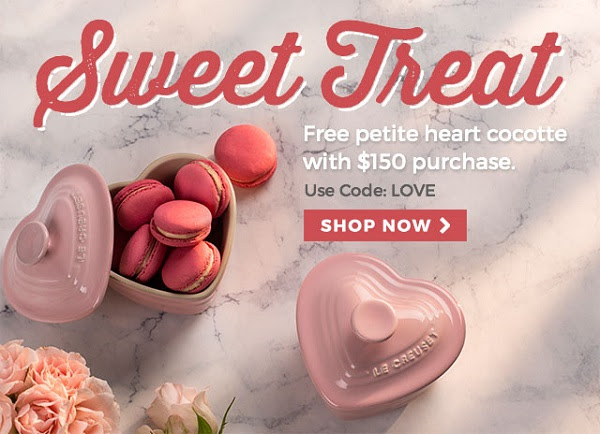 FREE petite heart cocotte with...